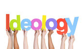 Multiethnic Hands Holding Ideology — Stock Photo