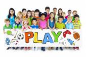 Group of Children with Play Concept — Stock Photo