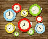 Multicolored Group of Clock — Stock Photo