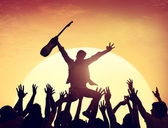 Group of People in Concert — Stock Photo