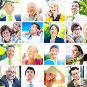 Diverse Happy People — Stock Photo