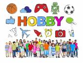 Multiethnic Group of Children with Hobby Concept — Stock Photo