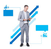 Business Man Holding Digital Tablet — Stock Photo
