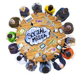 People Discussing Social Media — Foto de Stock