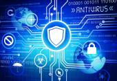 Antivirus protection system — Foto Stock