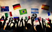 People Gathered for 2014 FIFA World Cup — Foto de Stock