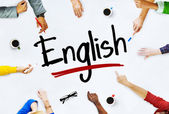 People and English Concept — Stock Photo