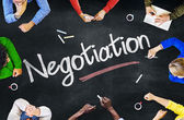 People Discussing About Negotiation — Stock Photo
