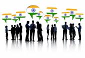 People Discussing About India — Stock Photo