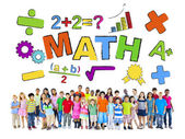 Group of Children and Mathematic Concept — Stock Photo