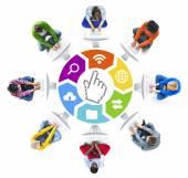 Personas y símbolos relacionados — Foto de Stock