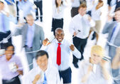 Large Group of Business People Communication — Stockfoto