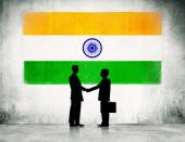 India flag and business people — Stock Photo