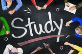 Koncepce lidí a studie — Stock fotografie