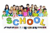 Group of Children with Back to School Concept — Stock Photo