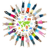Group of Children Circle with Symbol — Stock Photo