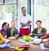 Group of Multiethnic Students with the Professor — Stock Photo