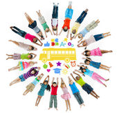 Multi-Ethnic Group of Children and School Concept — 图库照片