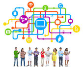 People Social Networking and Internet Concepts — Stock Photo