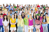 Large multi-ethnic group of people — Stock Photo