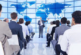 Large group of people in business presentation. — Stock Photo