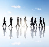 Business People Walking In Out — Stock Photo