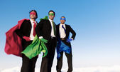 Business superheroes — Stock Photo
