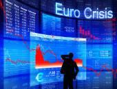 Businessman and Euro Crisis — Stock Photo