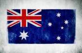 National Flag Of Austrailia — Stock Photo