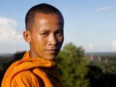 Monk looking at camera — Stock Photo