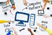 People with Computer Network Concept — Stock Photo
