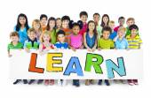 Group of Children with Learn Concept — Stock Photo