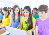 Large Group of Student in The Conference Room — Stock Photo