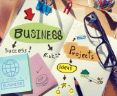 Notes About Business and Projects — Stock Photo