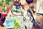 Notebook with Charity Concepts — Stock Photo