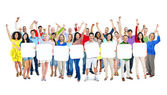 Group Of people with Arms Outstretched — Stock Photo