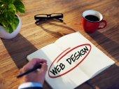 Podnikatel debaty o web designu — Stock fotografie