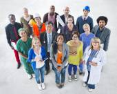 Group of Diverse People with Various Jobs — Stock Photo