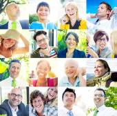 Multiethnic Diverse Cheerful People — Stock Photo