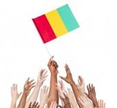 Bandeira de exploração do povo da Guiné — Fotografia Stock