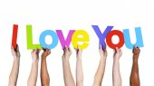 People Holding Message I Love You — Stock Photo
