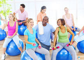 Healthy People in Fitness — 图库照片