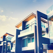 Contemporary Residential Building Exterior — Stock Photo