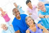 Healthy People in the Fitness — Stock Photo