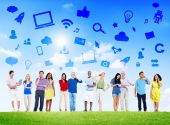 People Social Networking and Related Symbols — Stockfoto