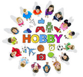Multi-Ethnic Children Forming a Circle with Hobby Concept — Stock Photo