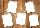Empty Papers Taped On Wall — Stock Photo