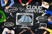 People Discussing About Cloud Computing — Stock Photo