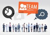 Equipo de gente de negocios multiétnica — Stockfoto