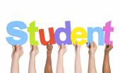 Multiethnic Hands Holding Student — Stock Photo
